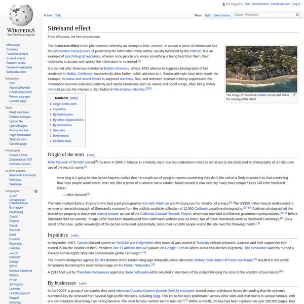 Streisand effect - Wikipedia