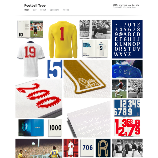 Football Type | A non-profit book celebrating football and typography