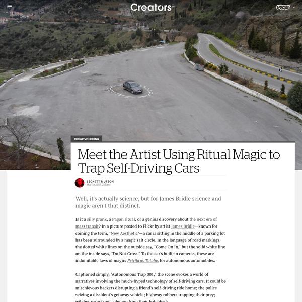 Meet the Artist Using Ritual Magic to Trap Self-Driving Cars