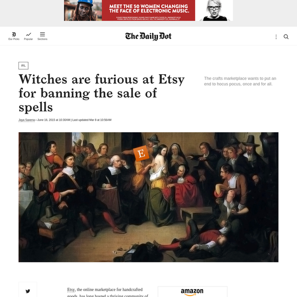 Why is Etsy banning witchcraft?