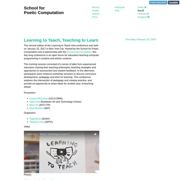 Learning to Teach by SFPC