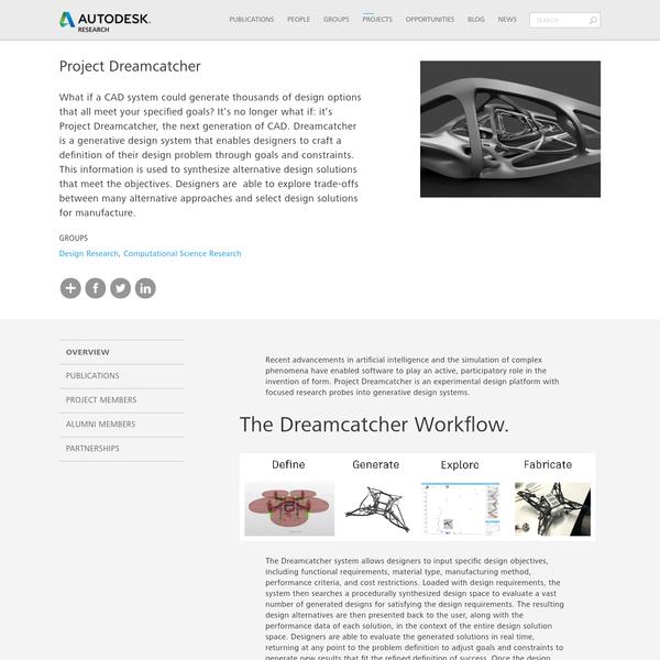 Project Dreamcatcher | Autodesk Research
