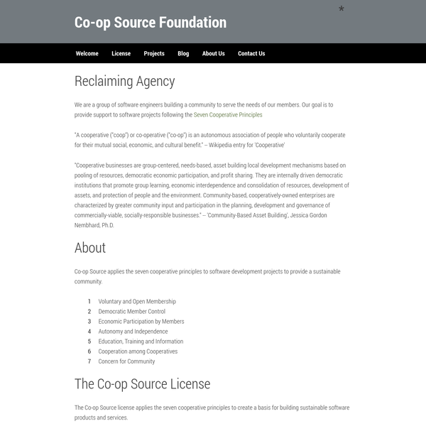 Co-op Source Foundation