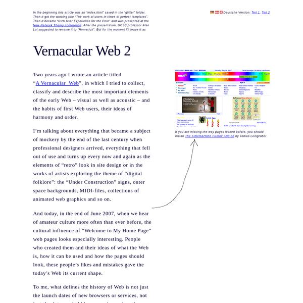 Vernacular Web