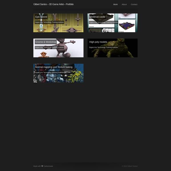 Gilbert Santos - 3D Game Artist - Portfolio