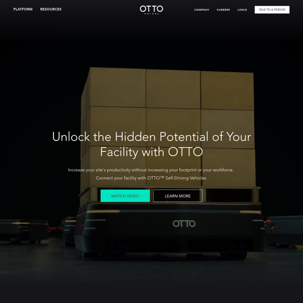 Meet OTTO, a self-driving vehicle designed to automate material transport and take your intralogistics to the next level: Industry 4.0.