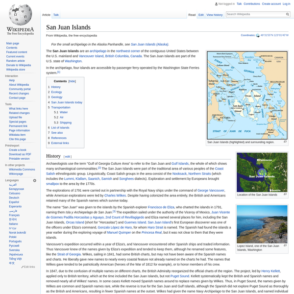 San Juan Islands - Wikipedia