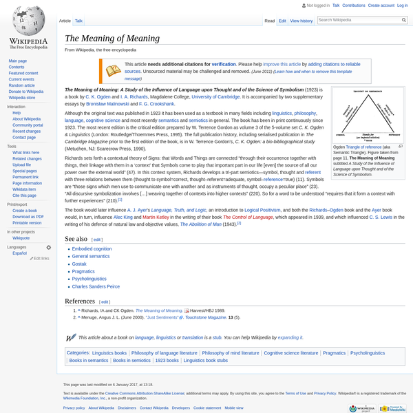The Meaning of Meaning - Wikipedia