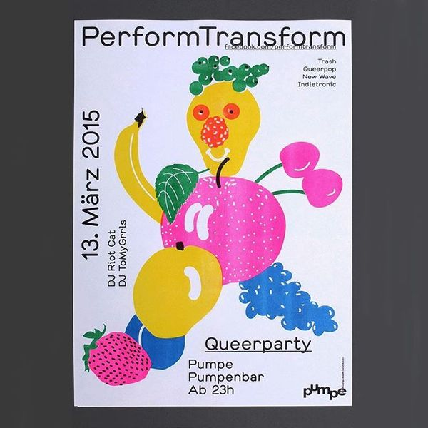Perform! Transform! by Nina Reisinger #design #graphic #graphicdesign #print #layout #poster #typography #berlin