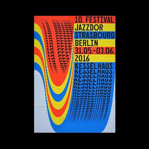 "649 Likes, 7 Comments - Dank Type™ (@danktype) on Instagram: ""Jazzdor Festival → Kesselhaus⠀ .⠀ .⠀ .⠀ .⠀ .⠀ .⠀ .⠀ .⠀ .⠀ .⠀ ⠀ #typography #graphicdesign #poster..."""