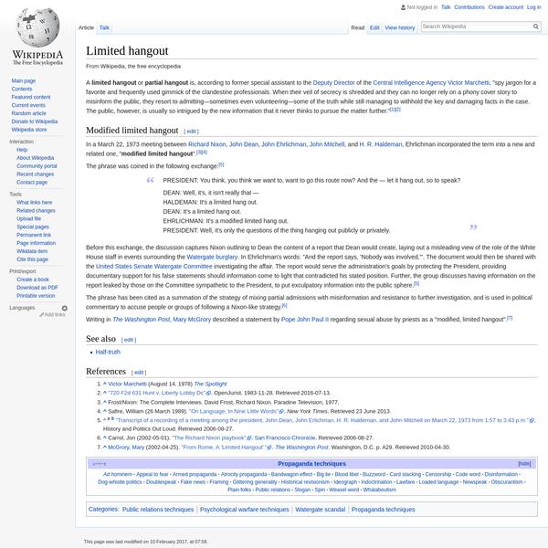 Limited hangout - Wikipedia