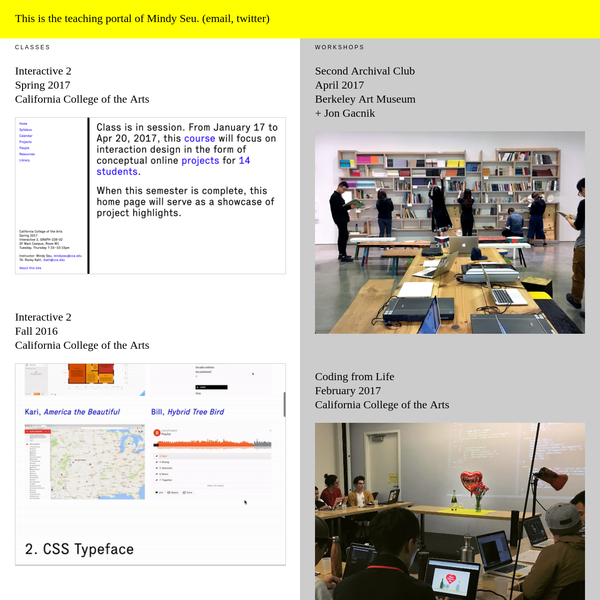 This is the teaching portal of Mindy Seu.