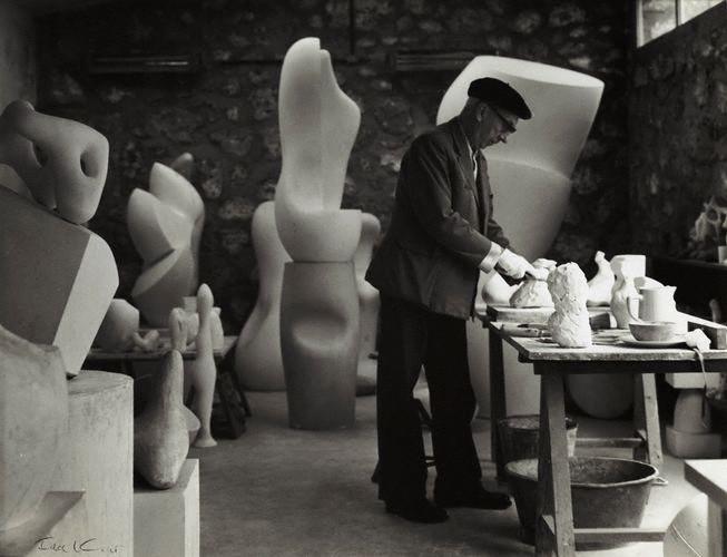 Jean Arp in Studio