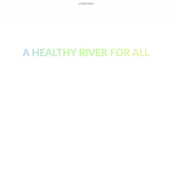 The data presented in the LA River Index is being shared under the Creative Commons Attribution-NonCommercial-ShareAlike 4.0 International License, the terms of which can be found here: https://creativecommons.org/licenses/by-nc-sa/4.0/. Please contact River LA if you are interested in using, displaying, or transmitting the text, images, or other non-data/creative content presented in the LA River Index.