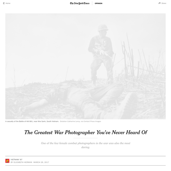 The Greatest War Photographer You've Never Heard Of