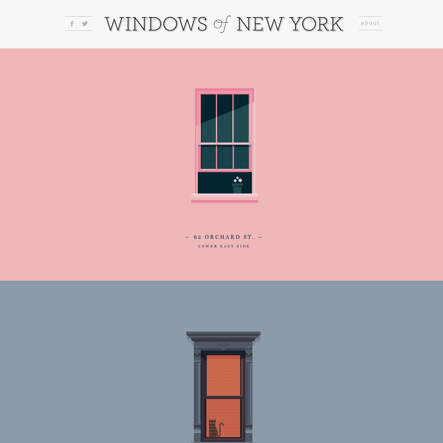 The Windows of New York project is a weekly illustrated fix to graphic designer José Guízar's obsession with the windows and fire escapes of NYC
