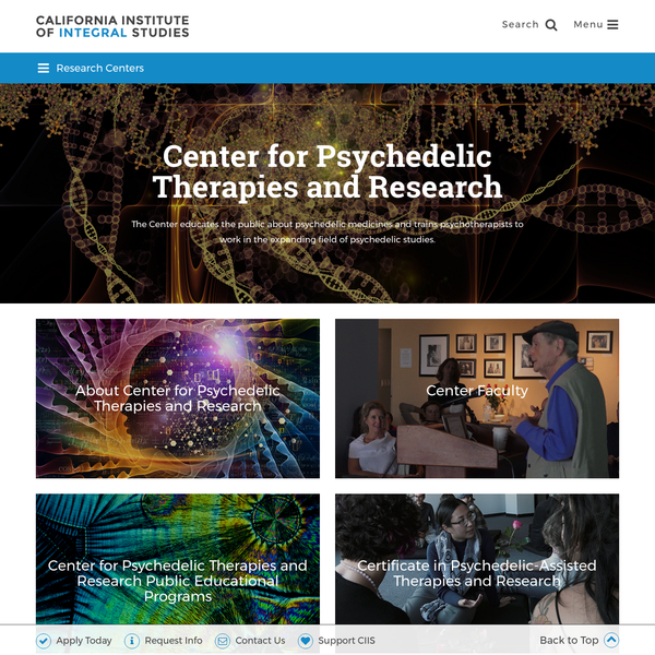 The Center for Psychedelic Therapies and Research at California Institute of Integral Studies
