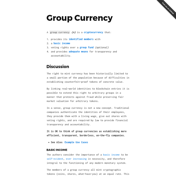 Group Currency