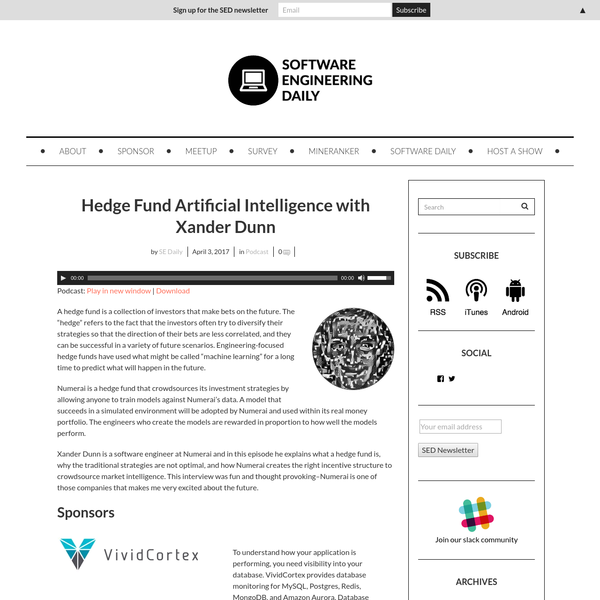 Hedge Fund Artificial Intelligence with Xander Dunn