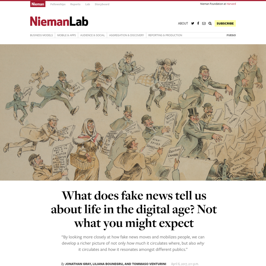 Editor's note: The first three chapters of a remarkable new document, A Field Guide to Fake News, are being released at the International Journalism Festival in Perugia.