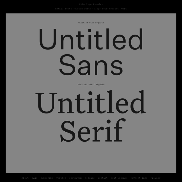 Klim Type Foundry is an independent typeface design studio led by Kris Sowersby and is based in Wellington, New Zealand. They sell a wide range of fonts online and undertake custom typographic work for international clients.