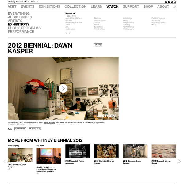 2012 Biennial: Dawn Kasper