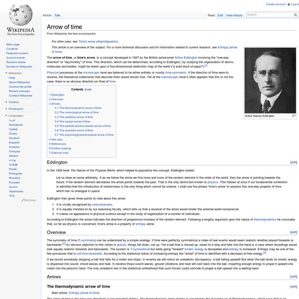 Arrow of time - Wikipedia, the free encyclopedia