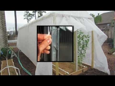 No need to buy expensive greenhouse wiggle wire or clips for your greenhouse fabric or film. Make it yourself with inexpensive PVC pipe.