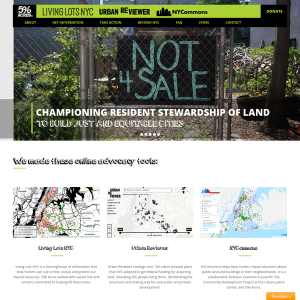 596 Acres - Tools for Community Land Access Advocacy