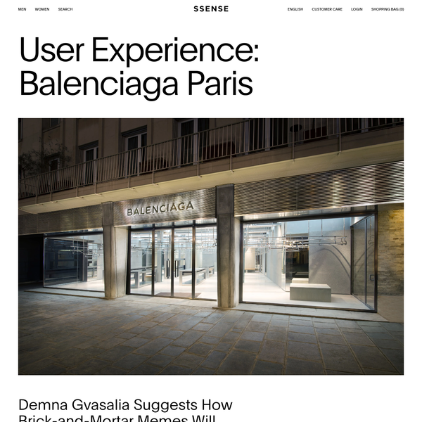 Visiting Balenciaga's Paris Store