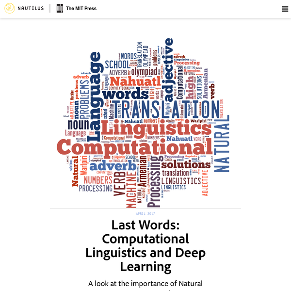 The Deep Learning Tsunami Deep Learning waves have lapped at the shores of computational linguistics for several years now, but 2015 seems like the year when the full force of the tsunami hit the major Natural Language Processing (NLP) conferences. However, some pundits are predicting that the final damage will be even worse.