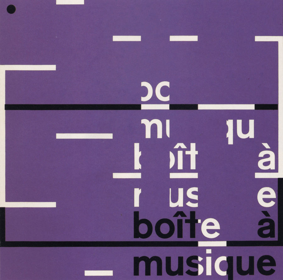 Karl Gerstner, from the visual identity for Boîte à Musique, 1957