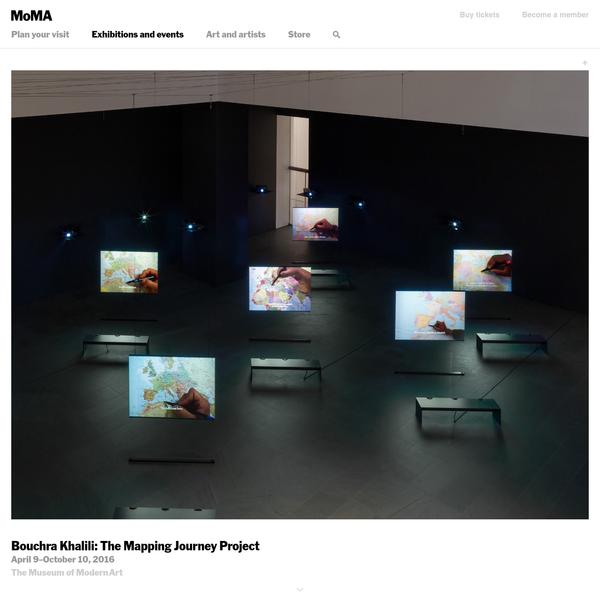 Bouchra Khalili: The Mapping Journey Project | MoMA