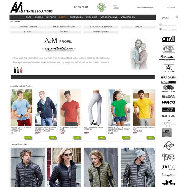 Profilkläder anpassade för dig hos A&M