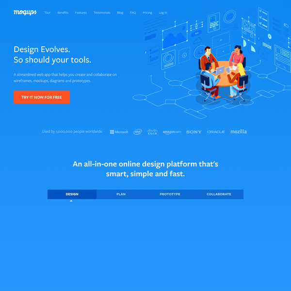 Moqups is a streamlined and intuitive web app that helps you create and collaborate on wireframes, mockups, diagrams and prototypes - for any type of project.