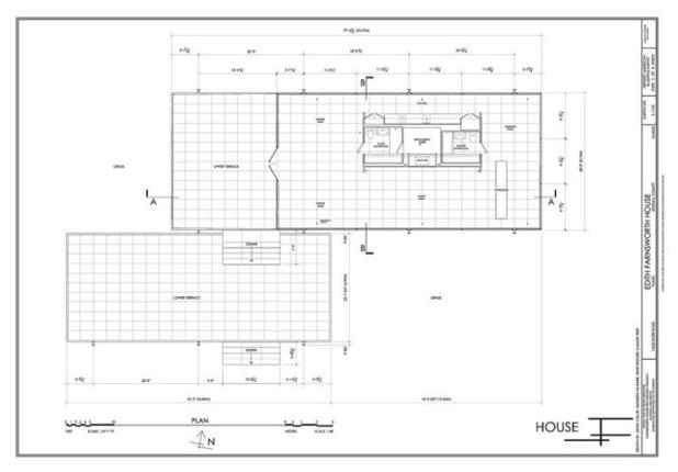 mvdr farnsworth house. Black Bedroom Furniture Sets. Home Design Ideas