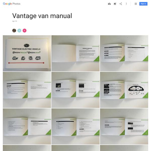 Vantage van manual