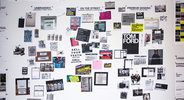 "This is a board from the development of the Viceland branding by Gretl. Beyond being a useful aesthetic to reference, the terminology used to describe it is also noteworthy. The key terms ""unbranded"" and ""premium generic"" I think are worthwhile descriptors that should be explored, whether in this particular moodboard, or in their own separate channels."