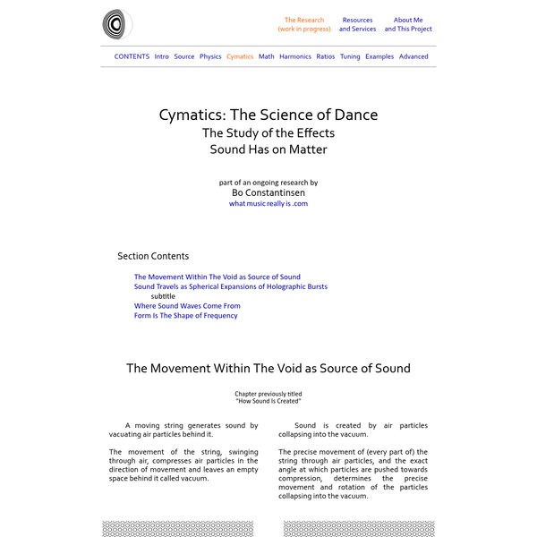 What Music Really İs | Cymatics: The Science of Dance