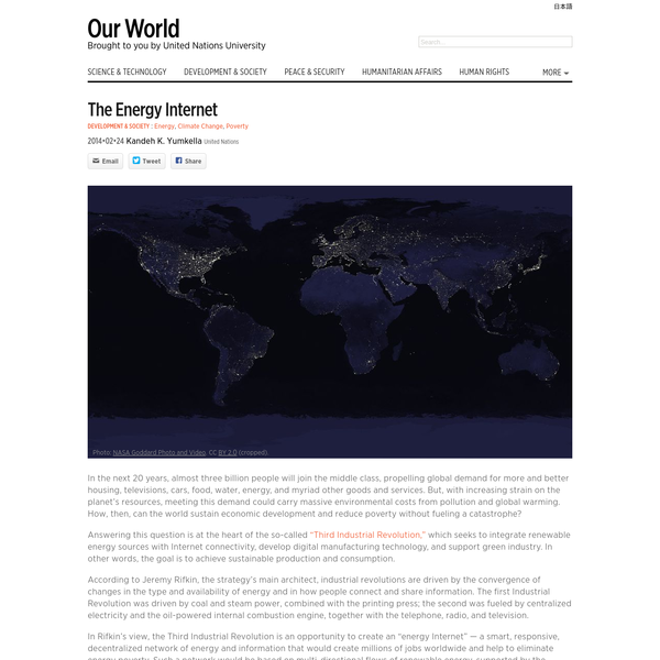 The Energy Internet - Our World