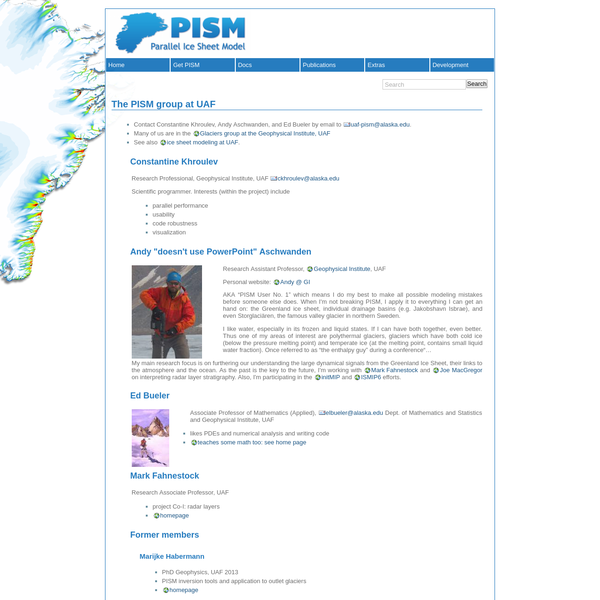 Documentation for PISM, a parallel Ice Sheet Model : The PISM group at UAF