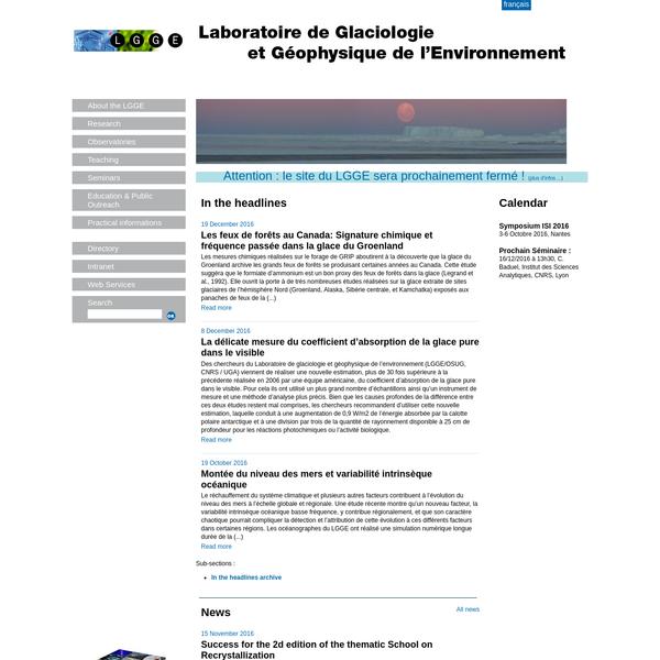Laboratoire de Glaciologie et Géophysique de l'Environnement