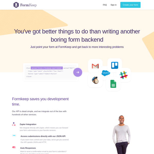 FormKeep   Form endpoints for designers and developers