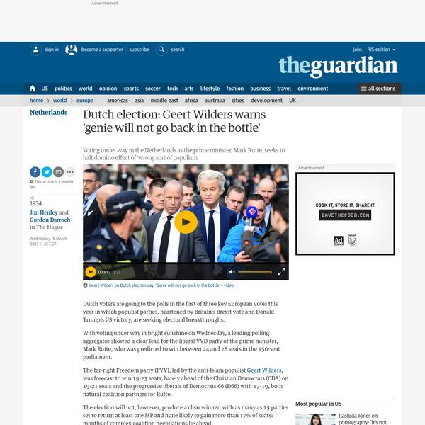 Dutch election: Geert Wilders warns 'genie will not go back in the bottle'