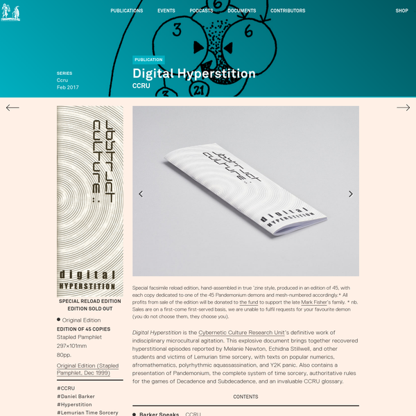 Abstract Culture: Digital Hyperstition - Urbanomic
