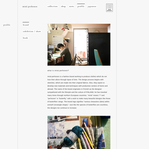 brand - profile | minä perhonen