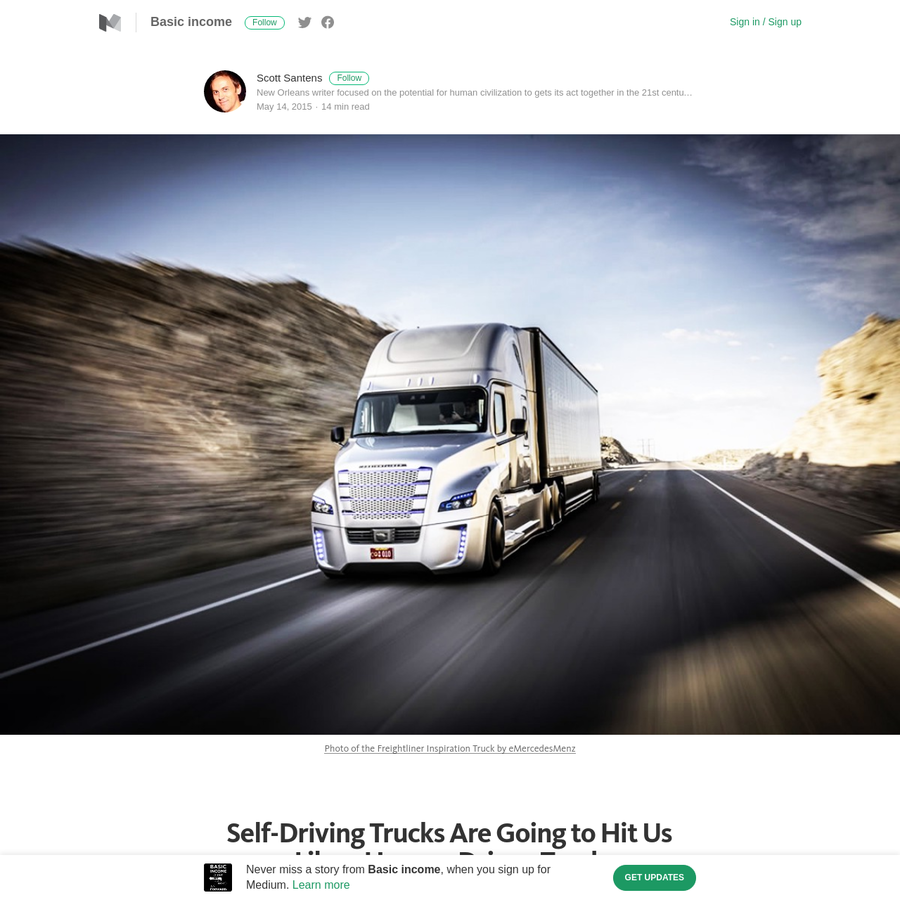 Late last year, I took a road trip with my partner from our home in New Orleans, Louisiana to Orlando, Florida and as we drove by town after town, we got to talking about the potential effects self-driving vehicle technology would have not only on truckers themselves, but on all the local economies dependent on trucker salaries.