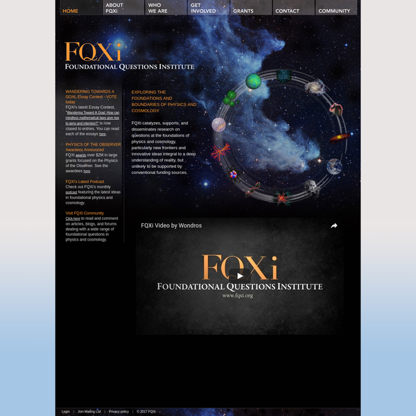 FQXi - Foundational Questions Institute