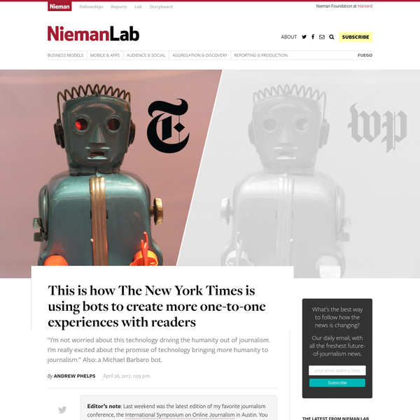 This is how The New York Times is using bots to create more one-to-one experiences with readers