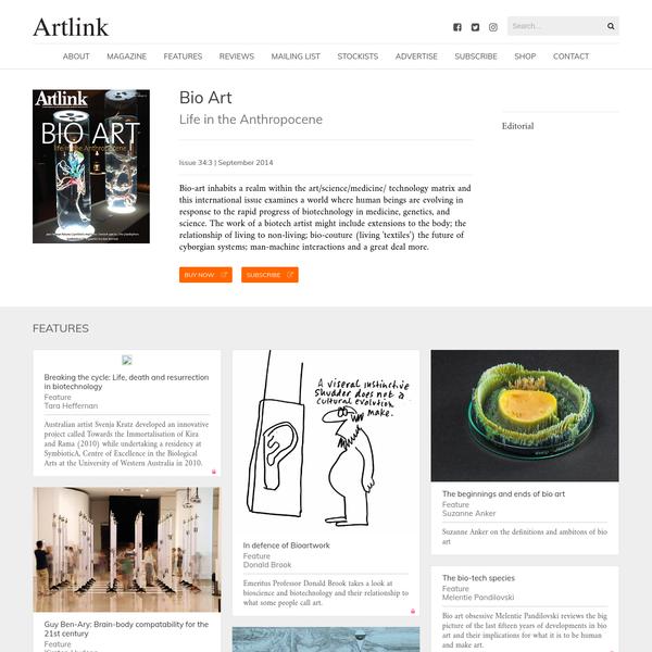 Bio Art | Artlink Magazine